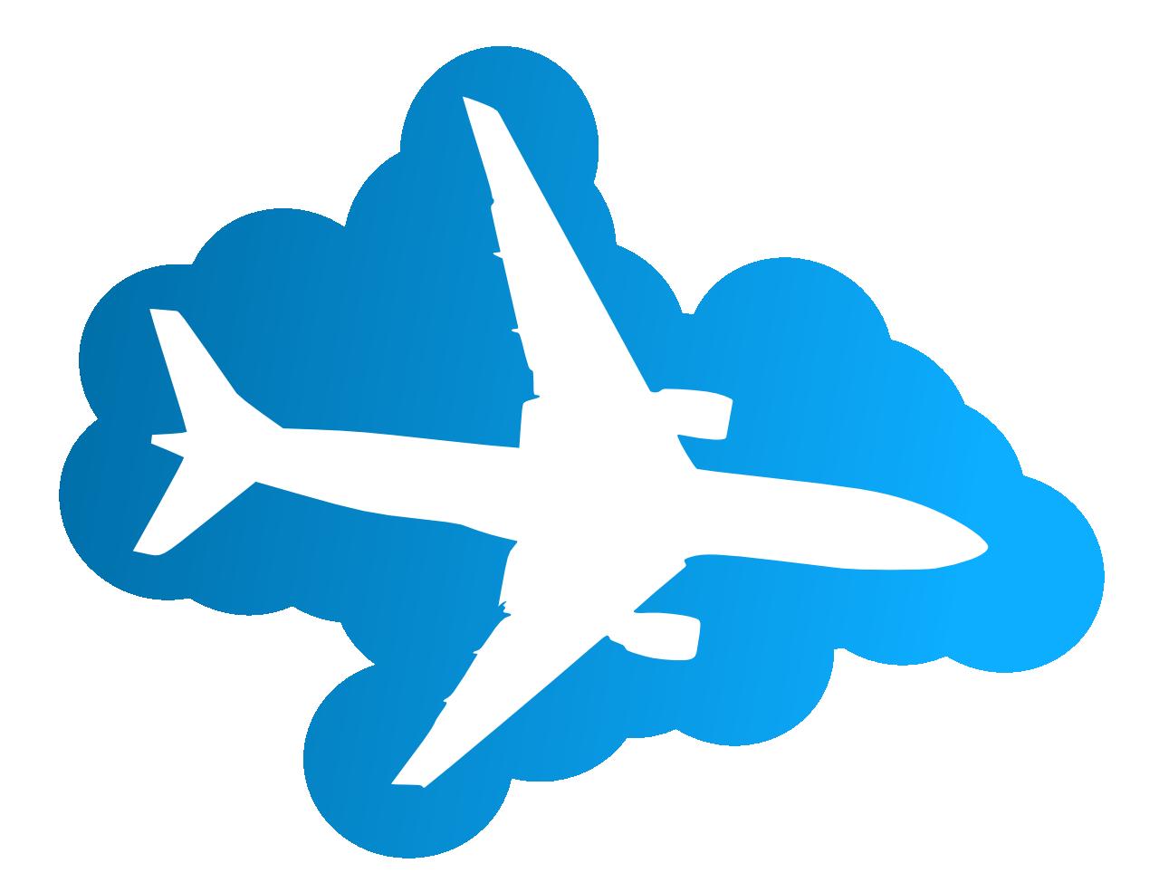 Klipart (obrázek) má název letadlo. stahujte klipart letadlo