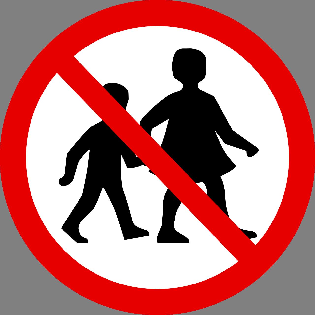 Výsledek obrázku pro zákaz dětí