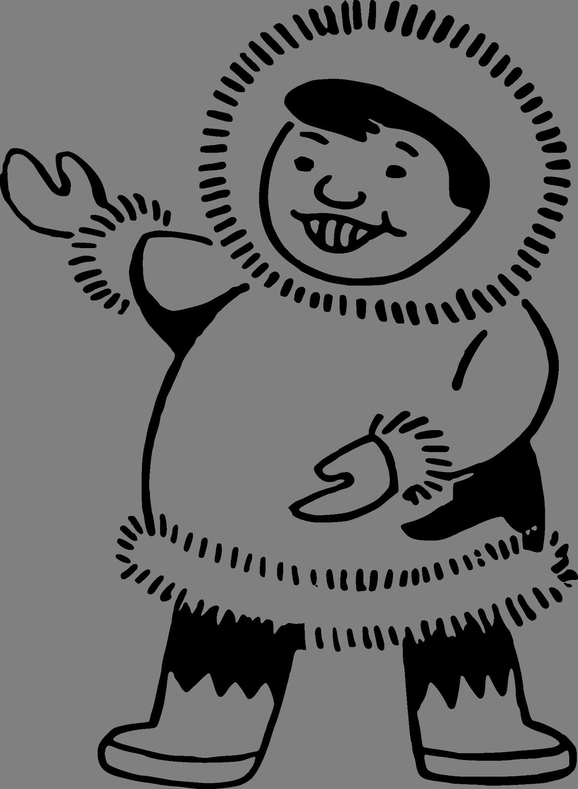 Obrazek Klipart Eskymak Zdarma Ke Stazeni V Rozliseni 1172x1600 Px