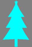 Bleděmodrý strom