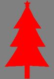 Červený stromek