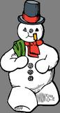 Chodící sněhulák