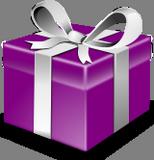 Fialový dárek