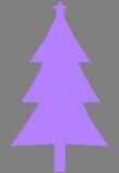 Fialový stromeček