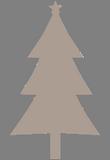 Hnědý stromeček