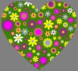 Květinové srdíčko