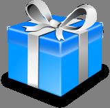 Modrý dárek