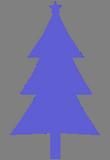 Modrý stromeček