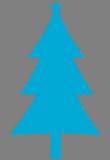 Modrý stromek