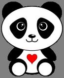 Panda se srdíčkem