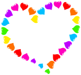 Pestrobarevné srdce