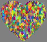Puzzle srdce