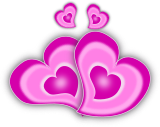 Růžová srdíčka