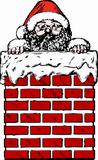Santa v komíně