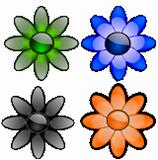 Skleněné květiny 2