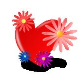 Srdce s květinami