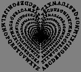 Srdce z abecedy