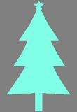 Světlemodrý stromek