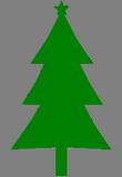 Tmavězelený stromeček