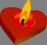 Valentýnská svíčka