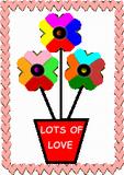 Větrníky - květiny