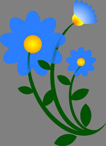 Obrázek, klipart Modrá květina zdarma ke stažení v rozlišení 364x500 px