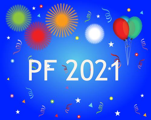 Vektorový obrázek, ilustrační klipart PF 2021 zdarma ke stažení, Vánoce vektor do vašich dokumentů