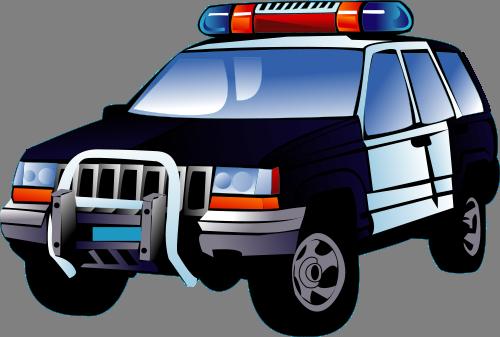 Obrazek Klipart Policejni Auto Zdarma Ke Stazeni V Rozliseni 500x337 Px