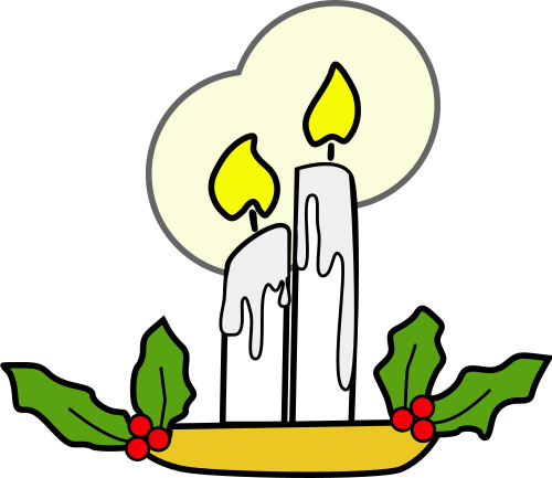 Vektorový obrázek, ilustrační klipart Vánoční svíčky zdarma ke stažení, Vánoce vektor do vašich dokumentů