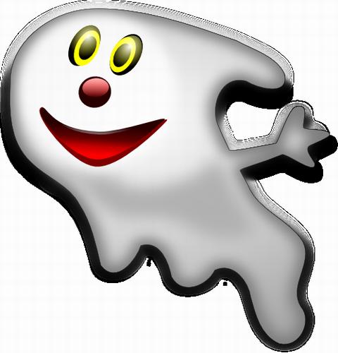 Vektorový obrázek, ilustrační klipart Veselý duch zdarma ke stažení, Halloween vektor do vašich dokumentů