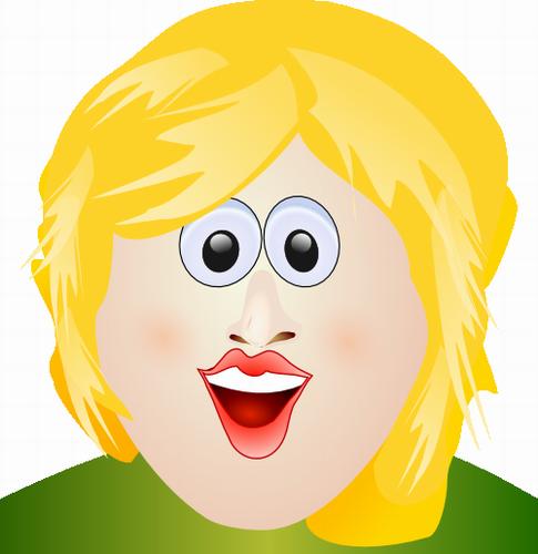 Vysmátá blondýna